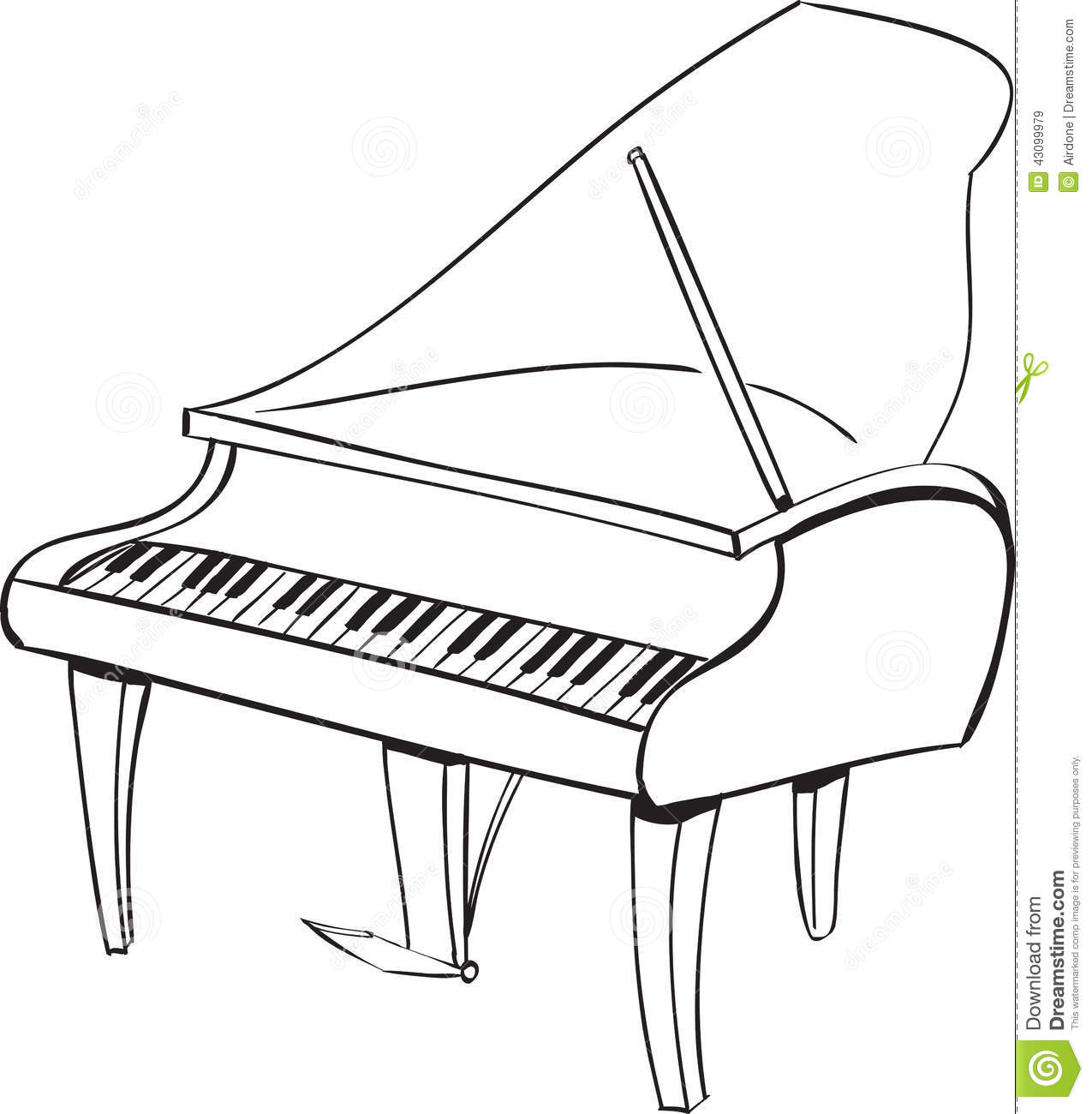 Music Instruments Clipart Piano.