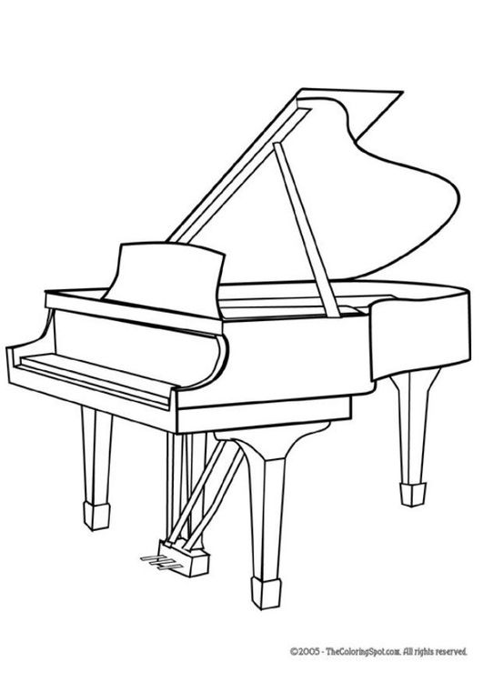 Piano clipart black and white 2 » Clipart Station.