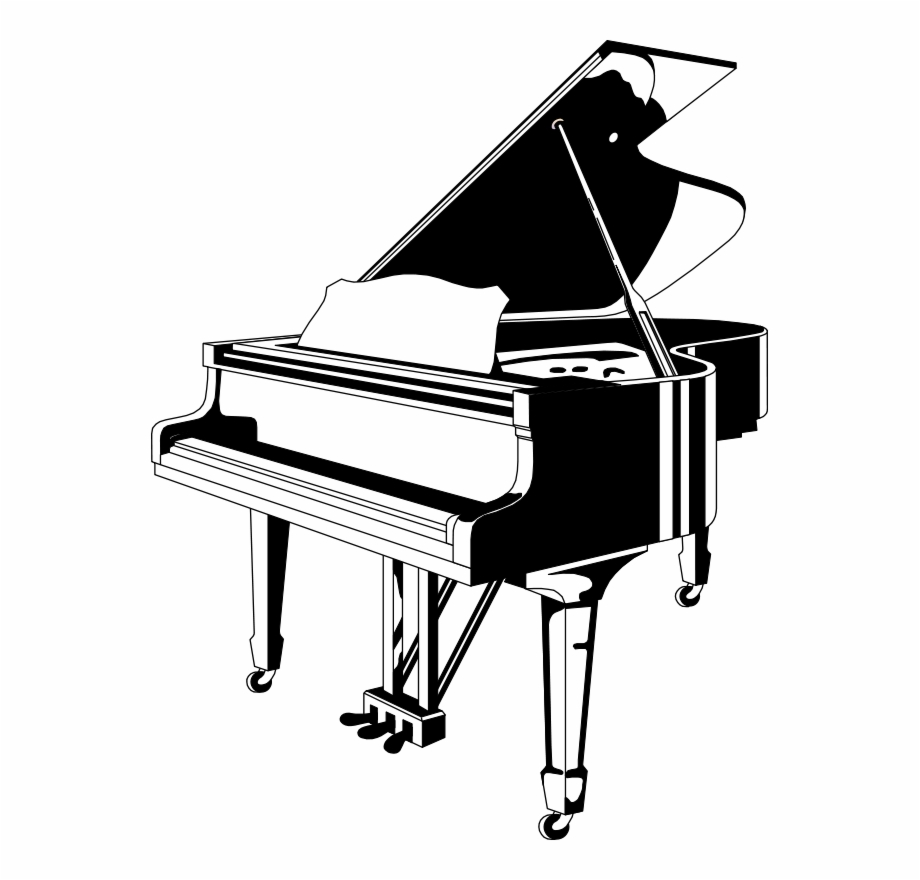 Free Piano Black And White Clipart, Download Free Clip Art.