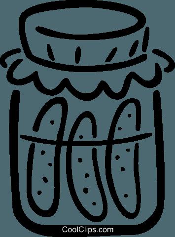 pickles Royalty Free Vector Clip Art illustration.