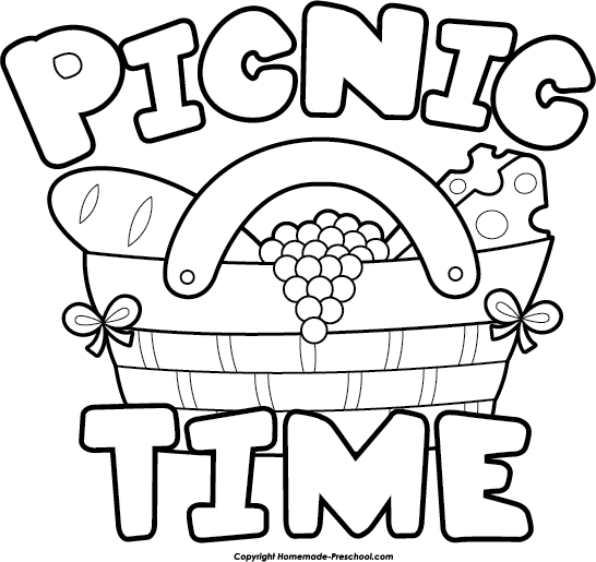 Free Picnic Clipart Black And White, Download Free Clip Art.