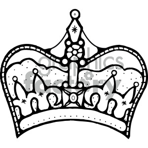 black white clipart crown . Royalty.