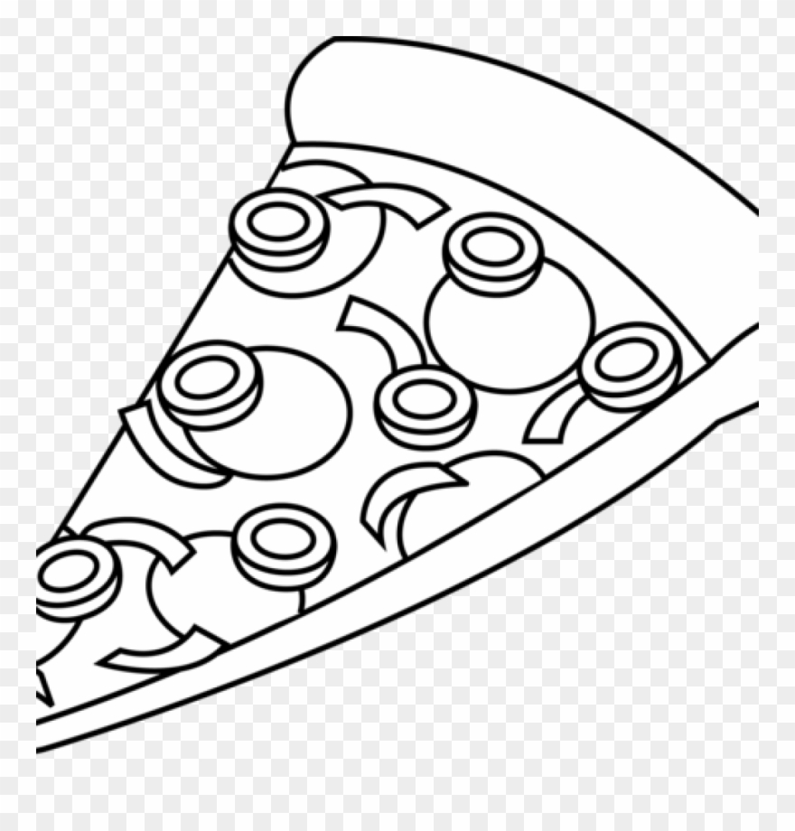 Gallery Of Kisspng Pizza Black And White Clip Art Food.