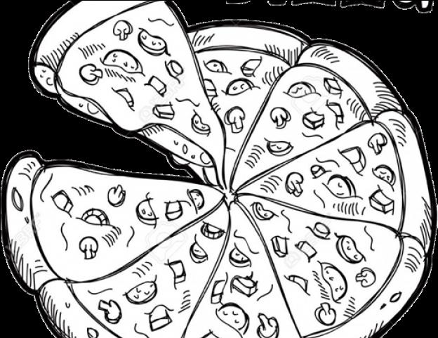 Pizza Clipart Symmetrical.