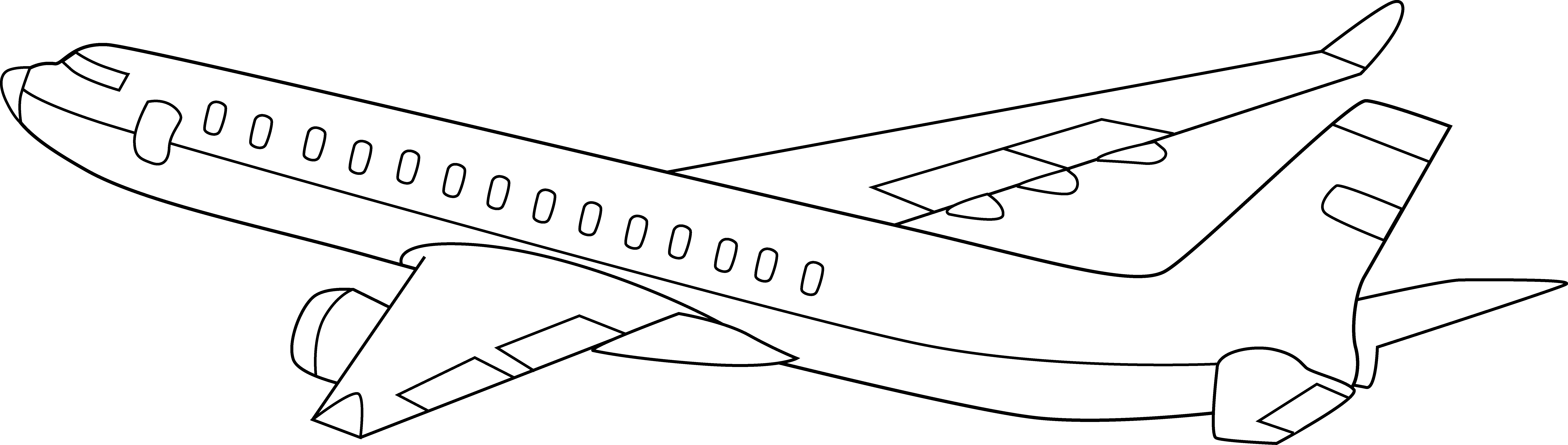 Free Black And White Airplane Pictures, Download Free Clip.