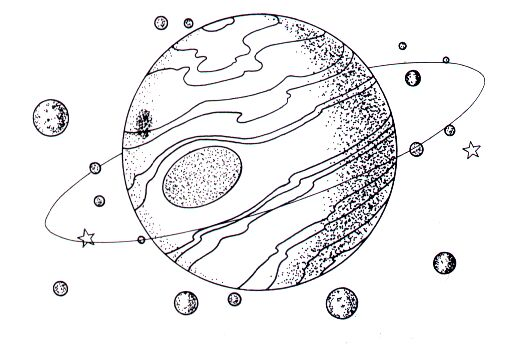 Free Planets Clipart Black And White, Download Free Clip Art.
