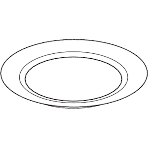 Plate Clipart Black And White 4.