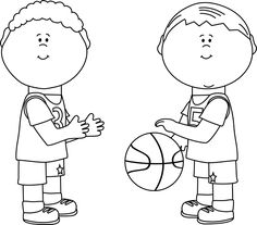 Boy Playing Clipart Black And White.
