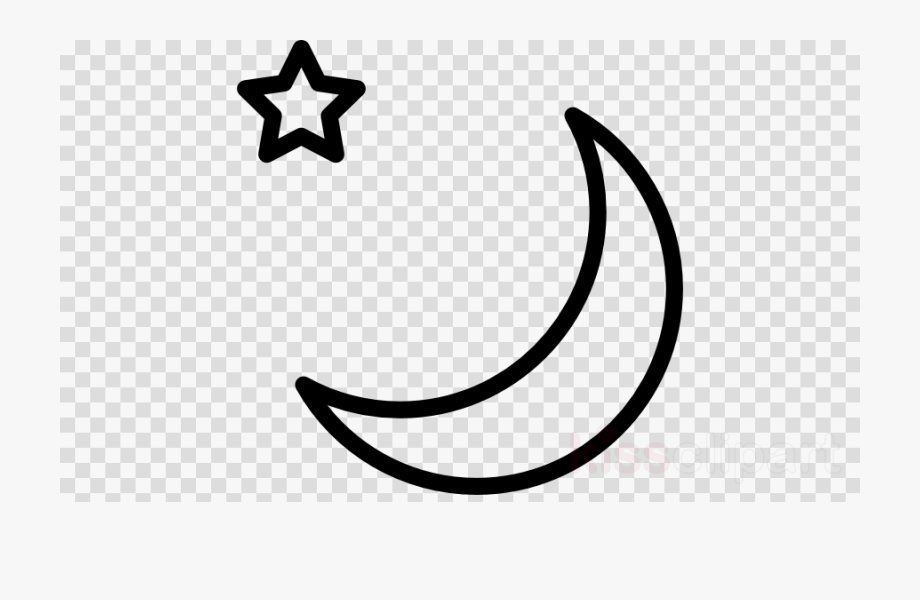 Star Black And White Clipart Moon.