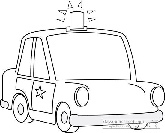 Free Police Car Black And White Clipart, Download Free Clip.
