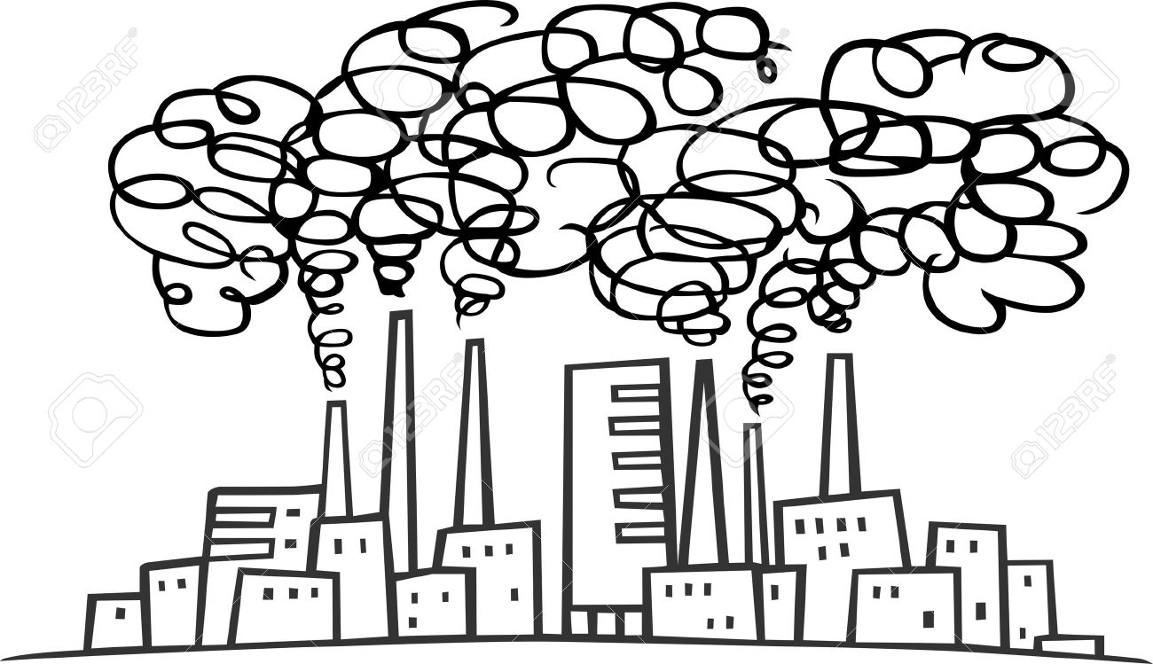 Air pollution clipart black and white 7 » Clipart Station.