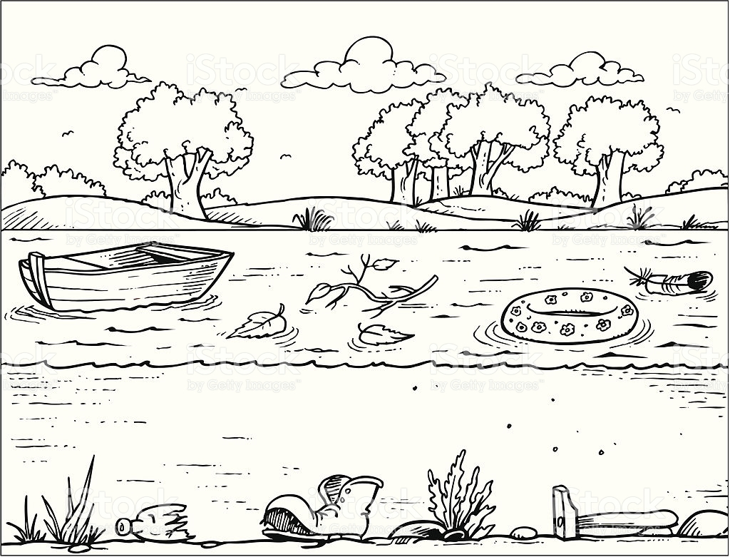 Water Pollution Clipart Black And White.