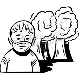 Air pollution clipart black and white 6 » Clipart Station.