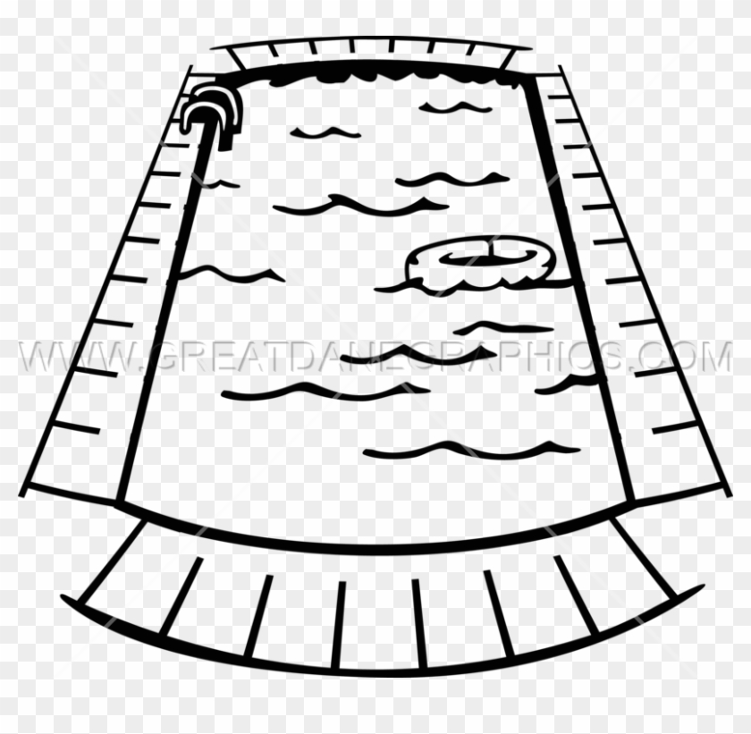 Swimming Pool Clipart Black And White Po #128807.