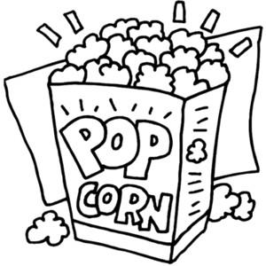 Popcorn black and white popcorn black and white clipart.