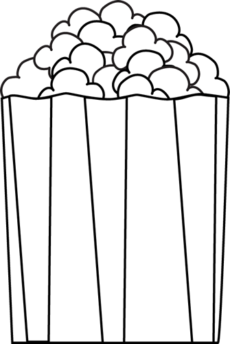 Movie and popcorn clipart black and white home dayasrioki.