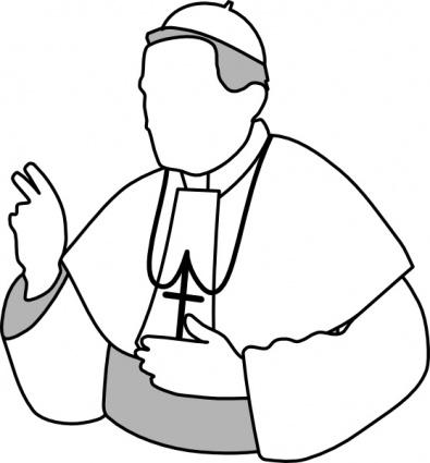 Aj Pope clip art free vector.