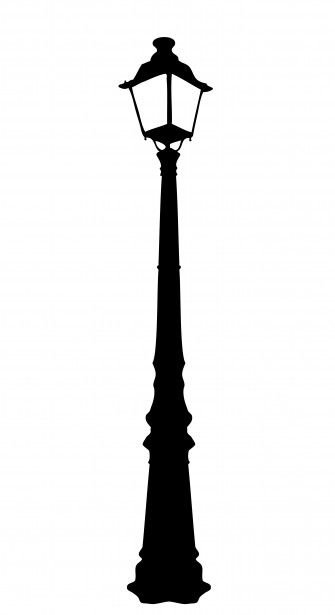Image result for lamp post black and white clipart.
