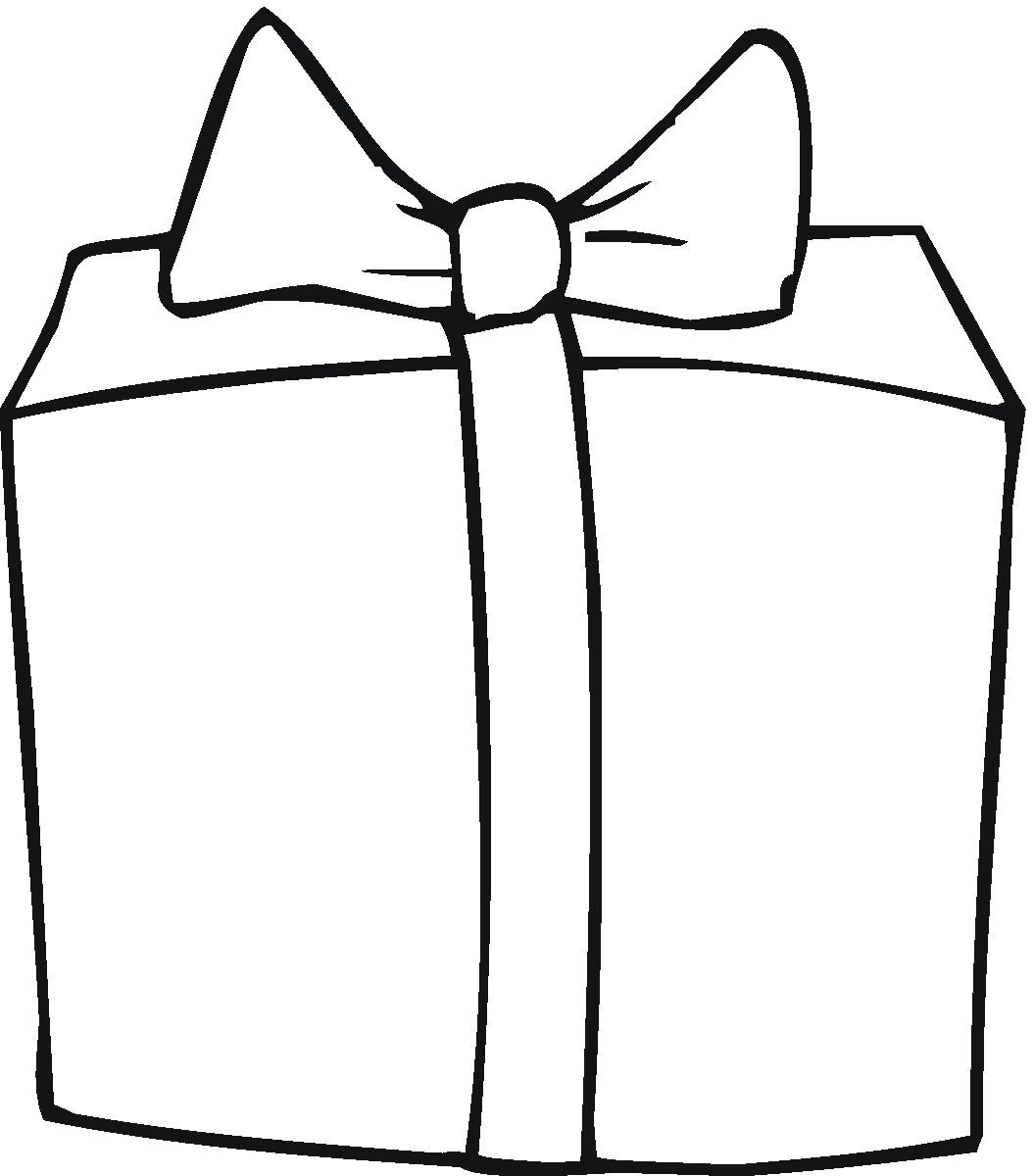 Gift Clipart Black And White Free.