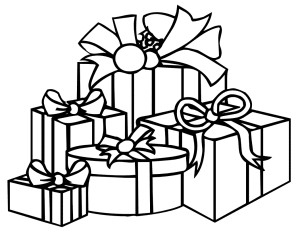 Birthday Gift Clipart Black And White.