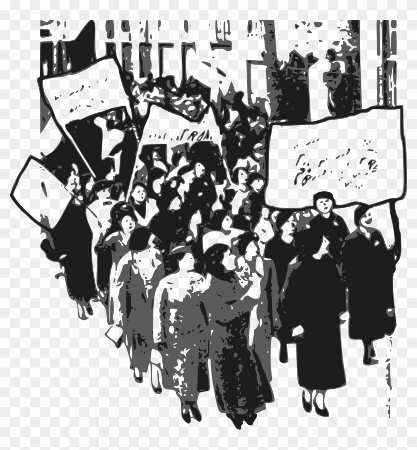 Library Clipart Protest Women Big Image Png.