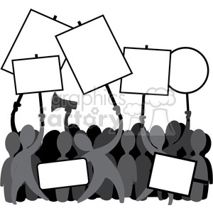 protesting clipart.