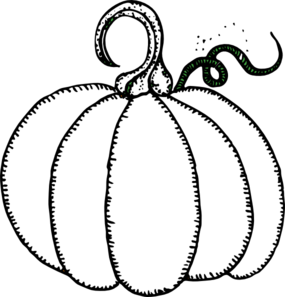 Free Pumpkin Clipart Black And White.