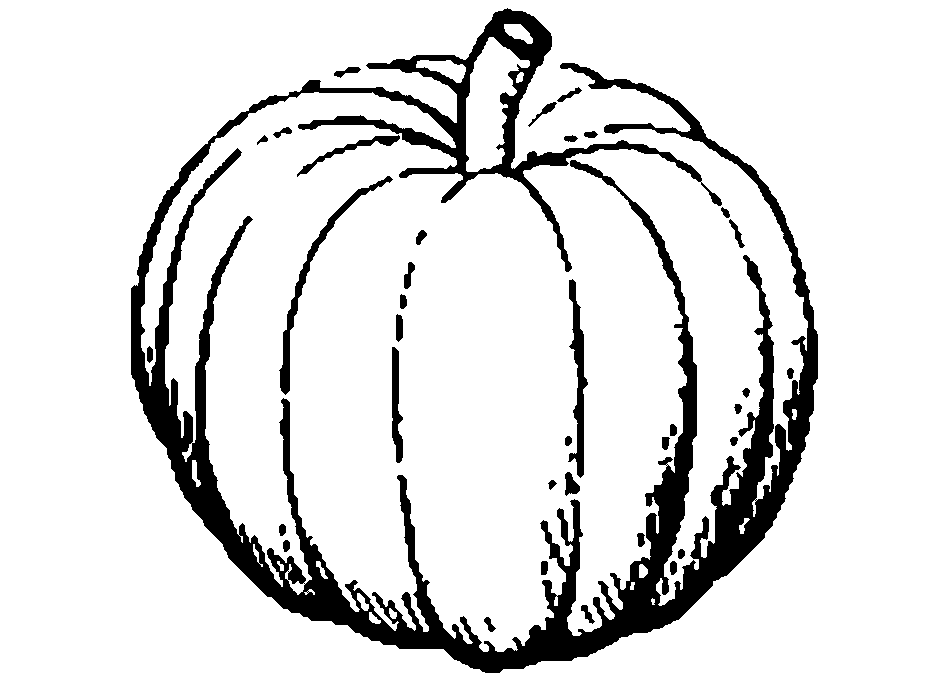 53 Pumpkin Black And White free clipart.