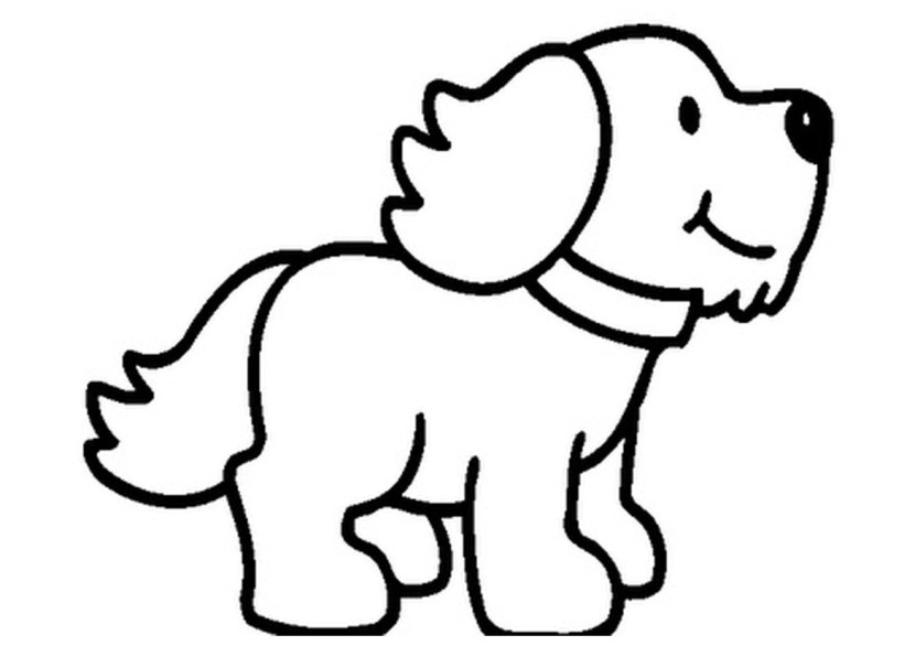 Puppy black and white clipart 2 » Clipart Station.