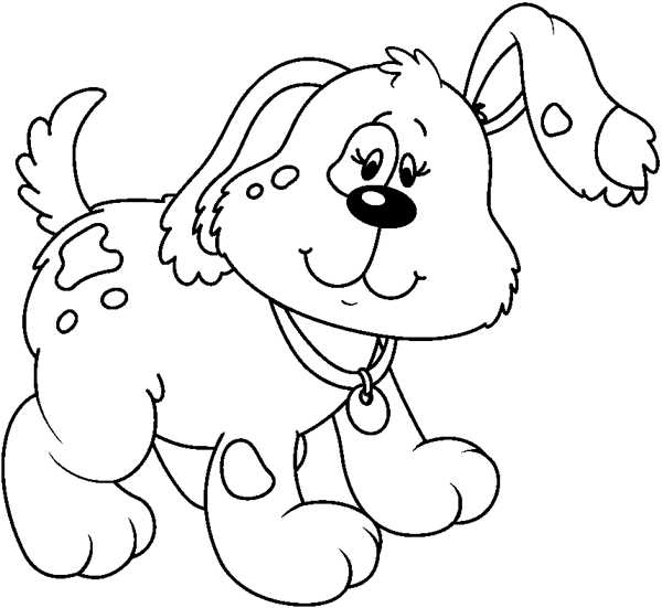 Black And White Clipart Puppy.