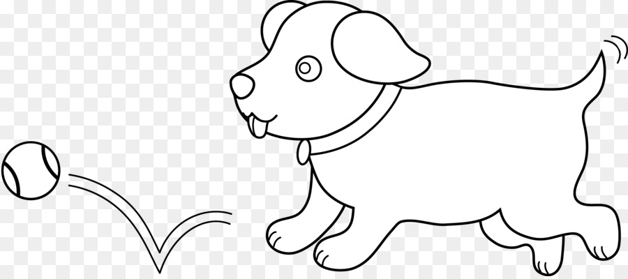 Puppy black and white clipart 5 » Clipart Station.