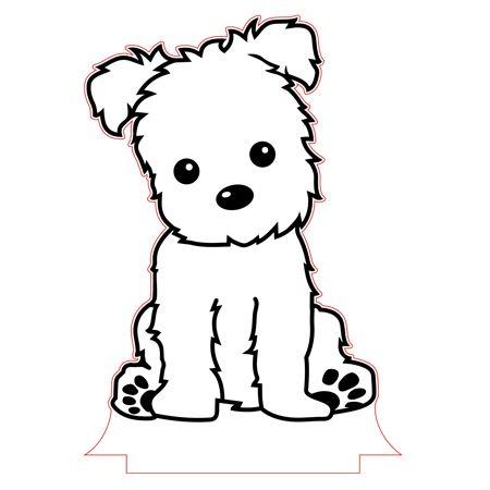 Puppy night light vector file.