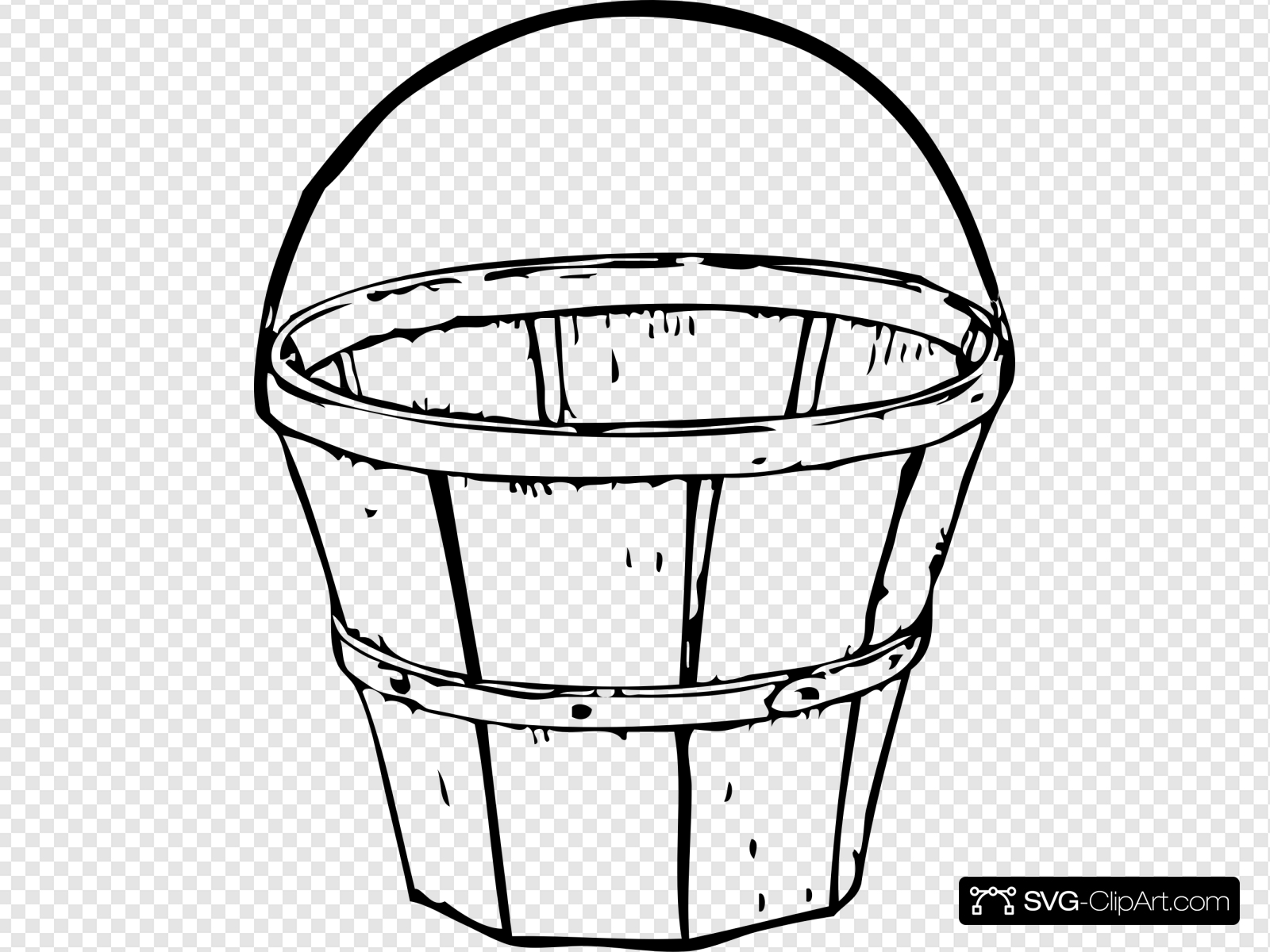 Quart Basket Clip art, Icon and SVG.