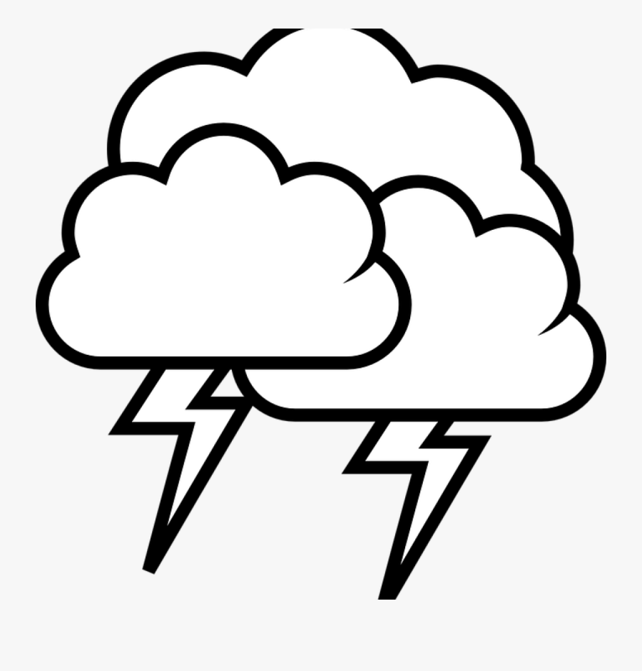 Cloud Clipart Black And White Thunderstorm Cloud Rain.