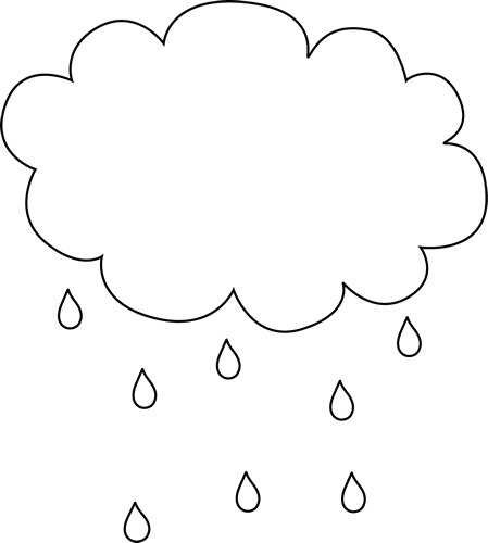 Black and White Rain Cloud.