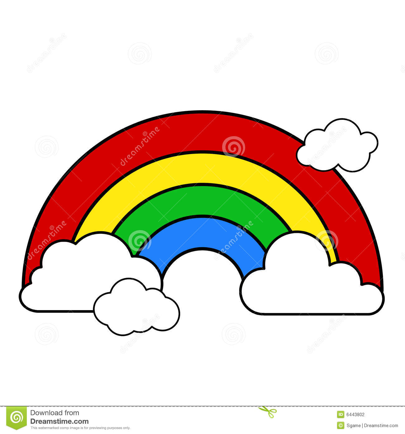 black and white clipart rainbow - Clipground