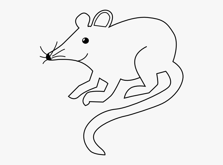 Mouse Outline Cliparts.