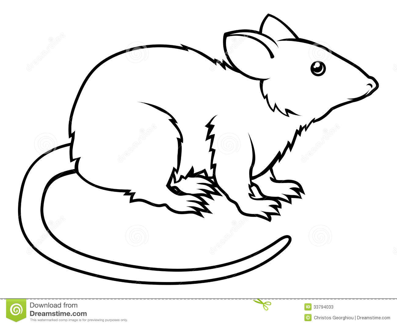 Rat Clipart Black And White.