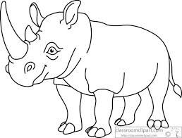 Image result for blackline images of cute rhinoceros.