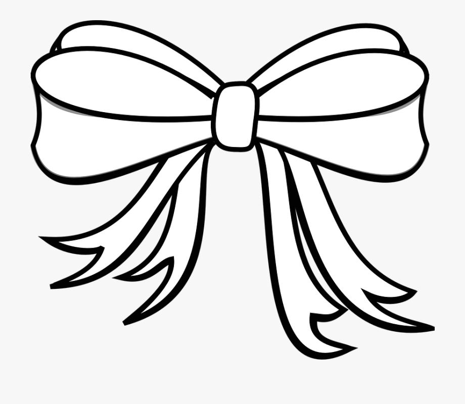 Free Photo Bow Tie Knot White Ornate Ribbon Decoration.