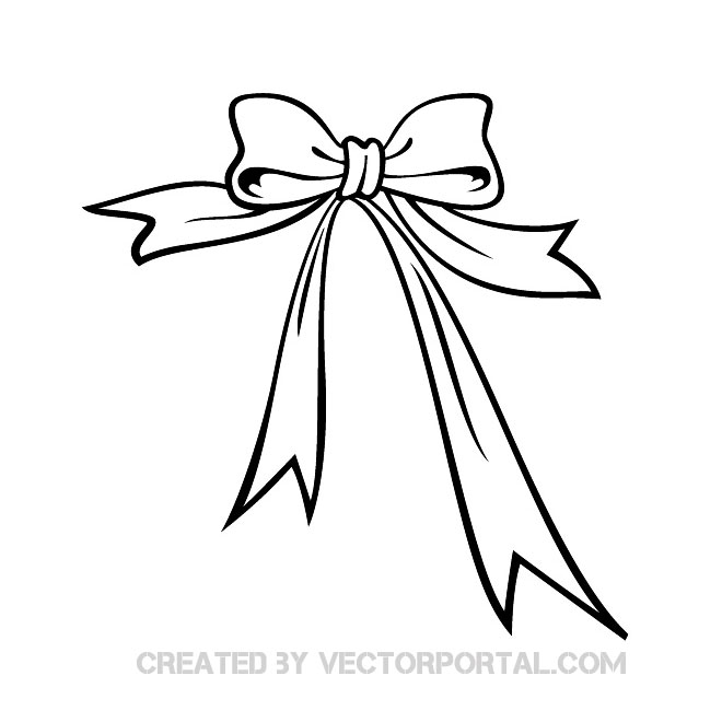 Ribbon vector.