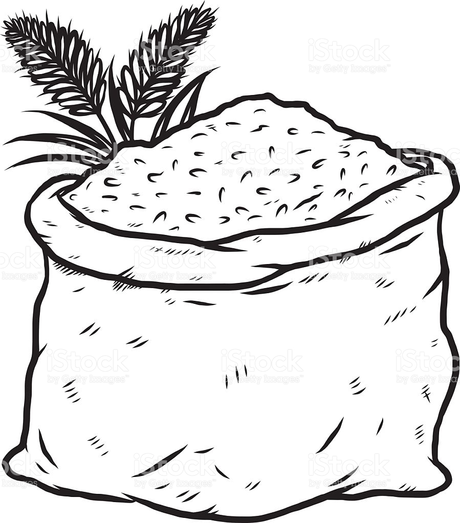 Rice Bag Clipart Black And White.