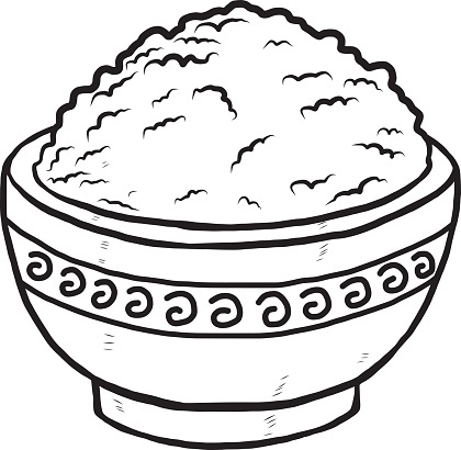 Rice Clipart Black And White Clip Art Library Within.