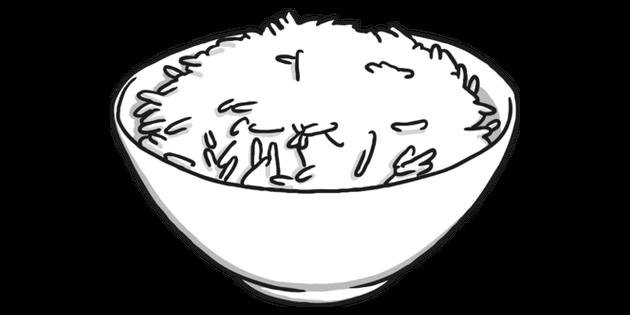 Rice Black and White 2 Illustration.