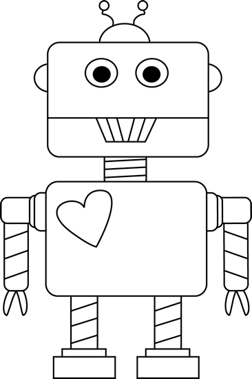 4164 Robot free clipart.