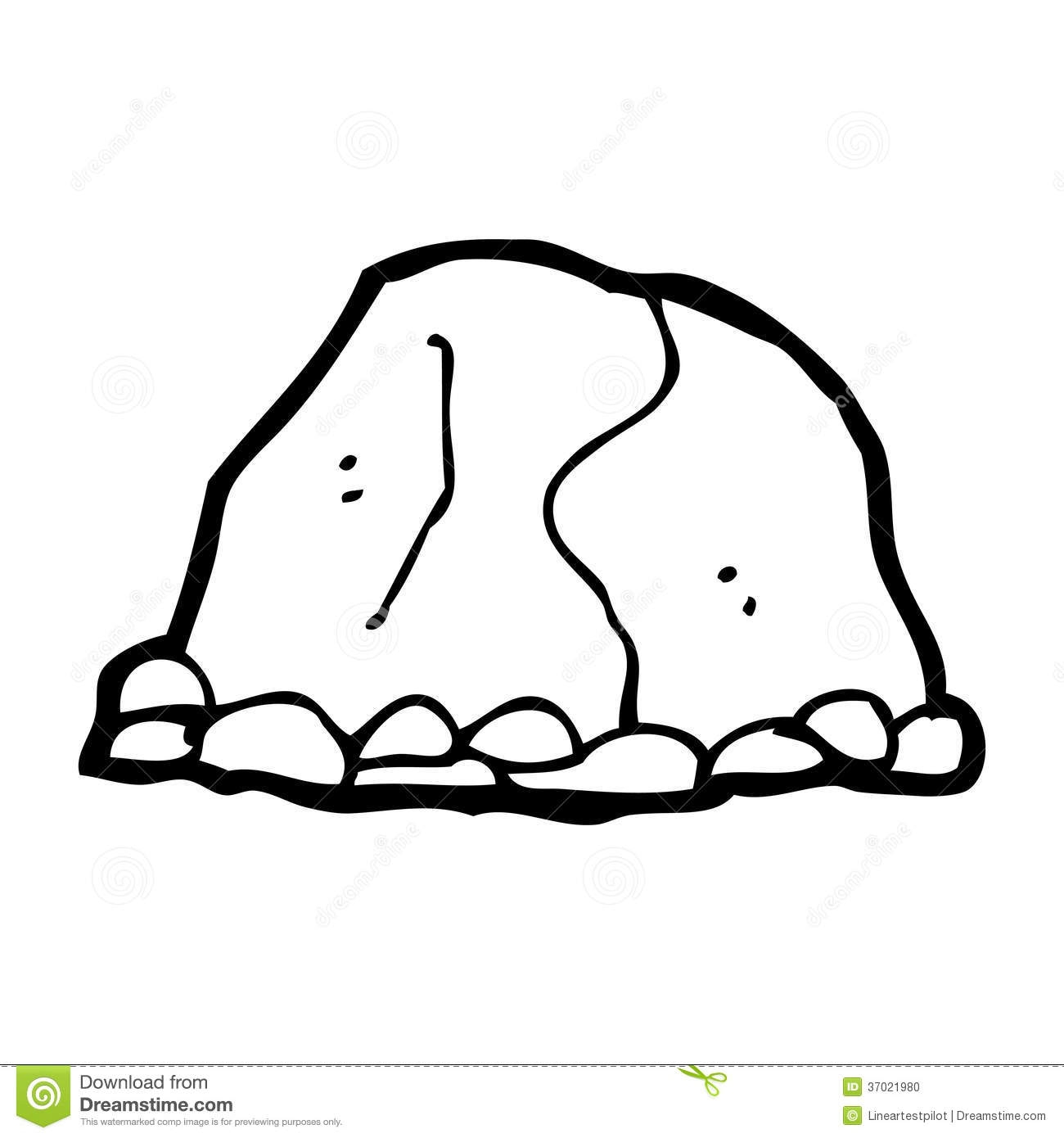 Rock clipart black and white Elegant Rock black and white.