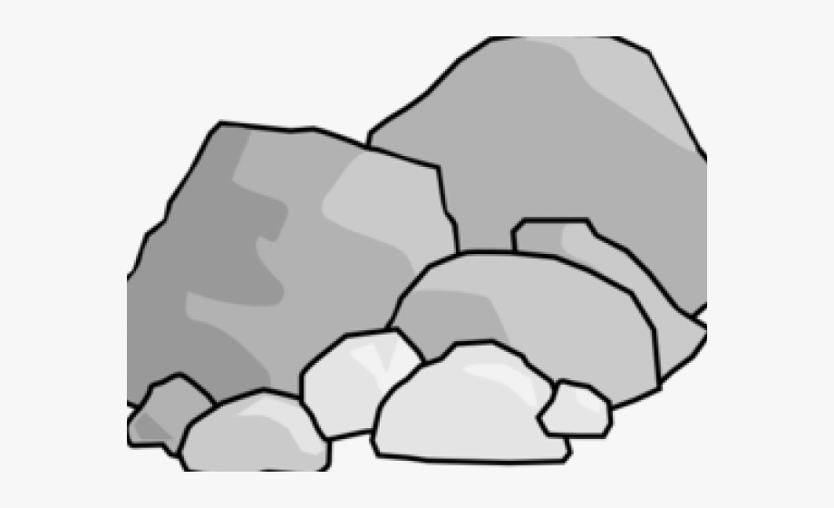 Rock Clipart Black And White.