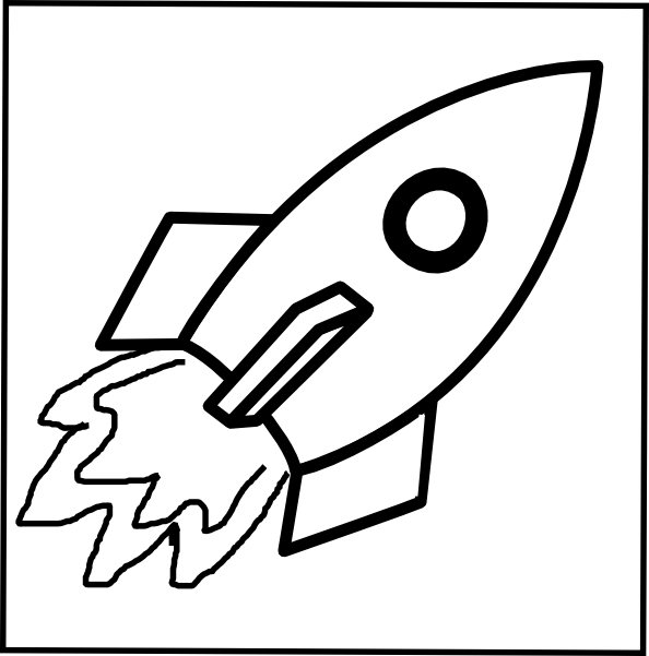 Rocket black and white clipart 4 » Clipart Station.