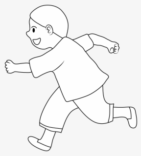 Free Running Black And White Clip Art with No Background.