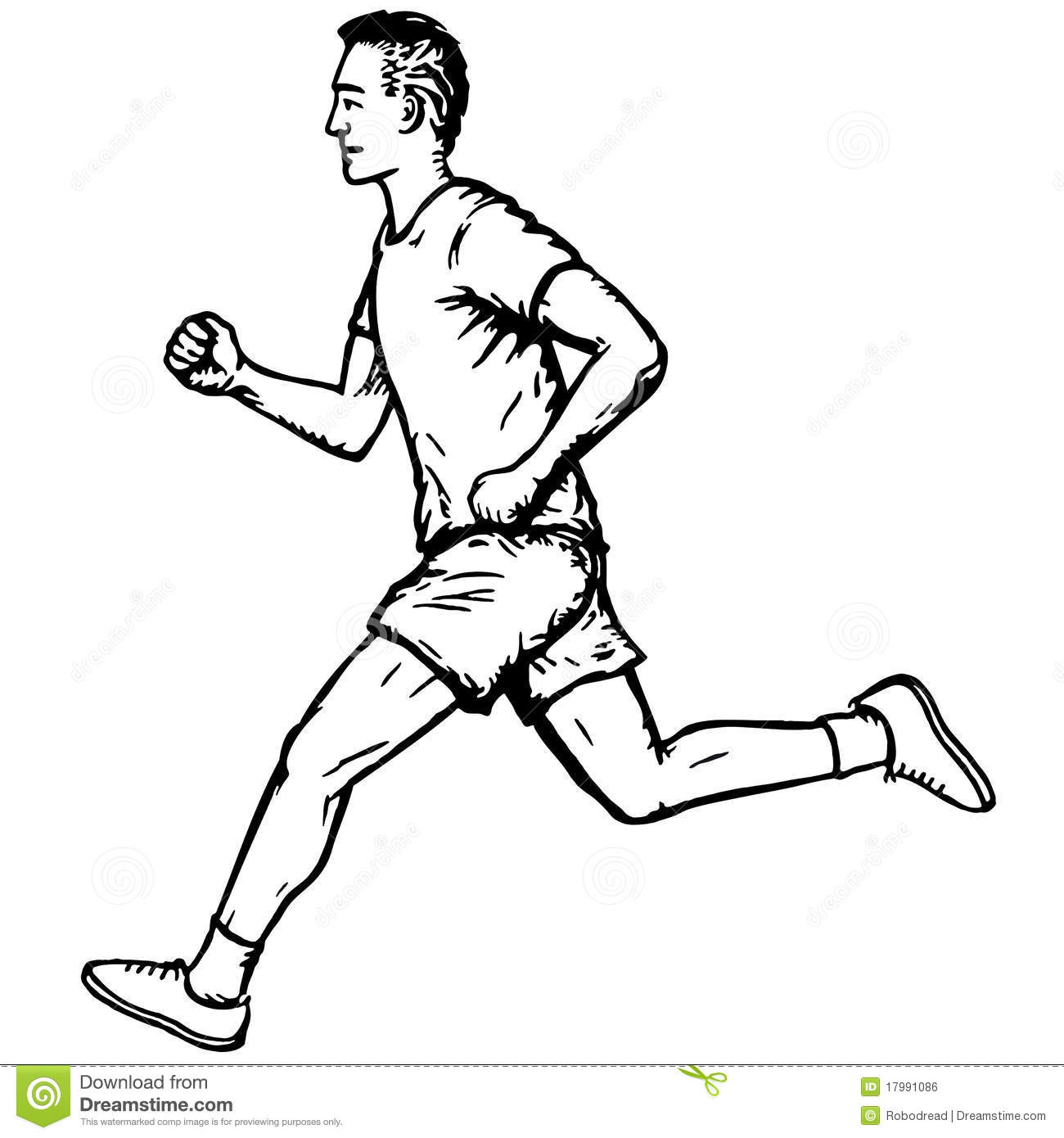Running Clipart Black And White.